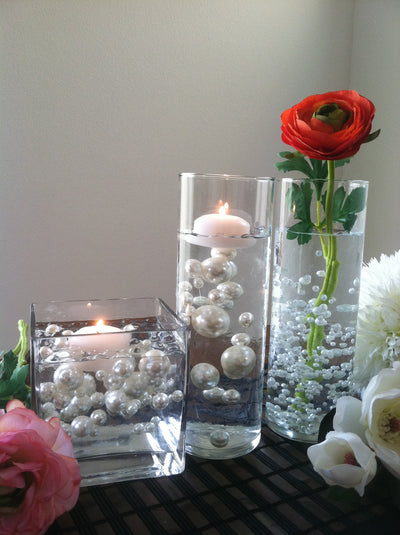 80pc Pearls For Floating Pearl Centerpieces, Available In 30 colors, Jumbo Size Pearls