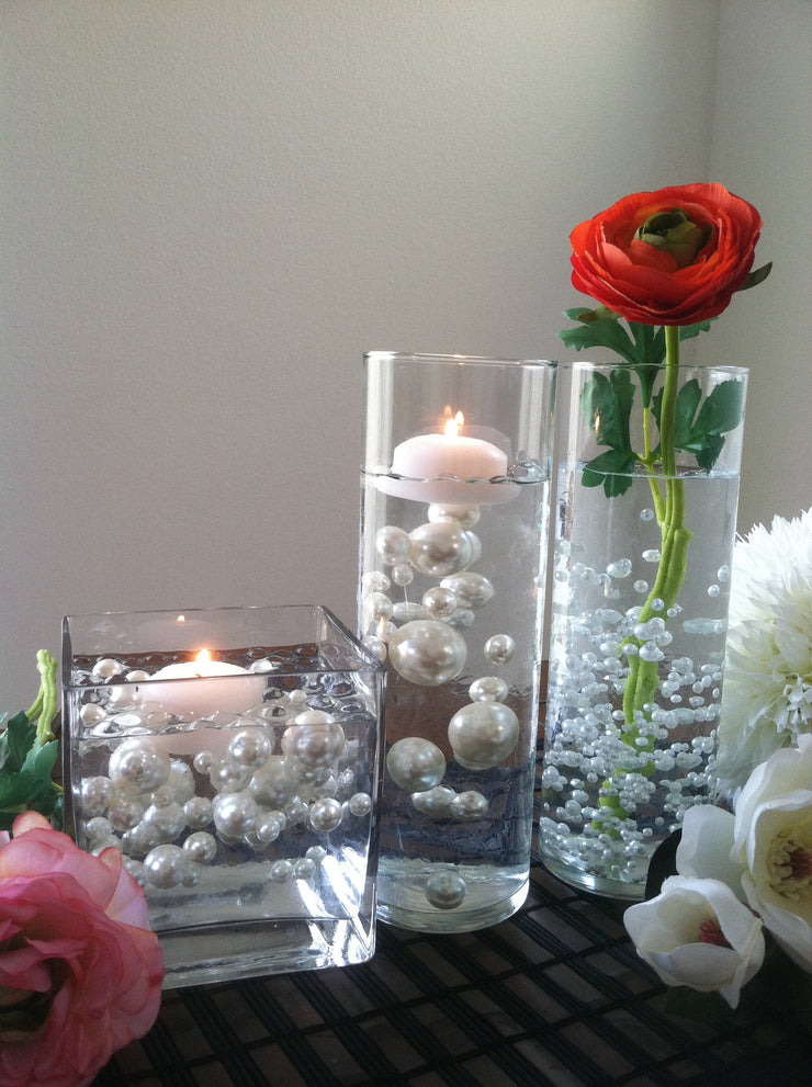 White Pearls For Floating Pearl Centerpieces, Jumbo Pearl Vase Fillers, Confetti, Table Decor