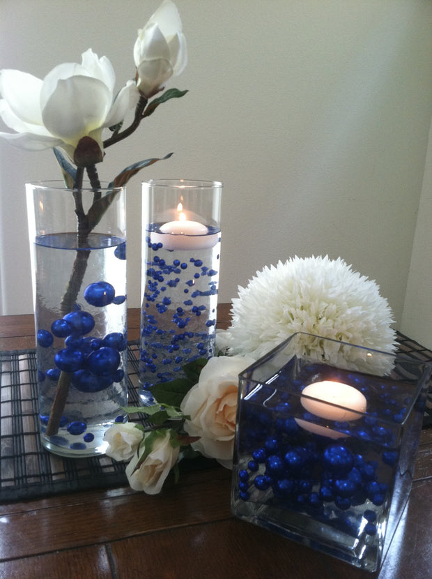 Royal blue pearls, Jumbo Pearl Vase Fillers, Confetti, Scatters