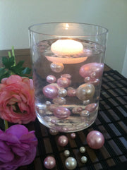 Light Pink/Ivory Floating Pearls Centerpiece, Vase Fillers, Table Scatters