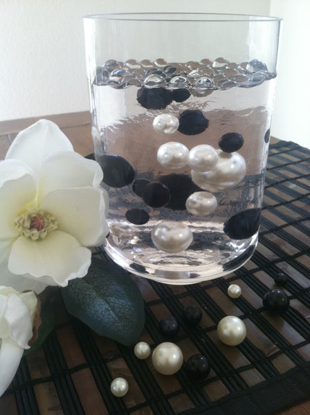 Black Pearls For Floating Pearl Centerpieces Jumbo Pearls Vase Filler Floating Pearls