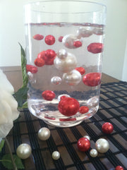 Red Pearls For Floating Pearl Centerpieces, Jumbo Pearls Vase Fillers, Scatters, Confetti
