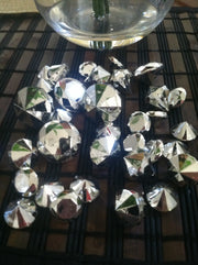 Silver Metallic Diamond Table Scatter And Confetti