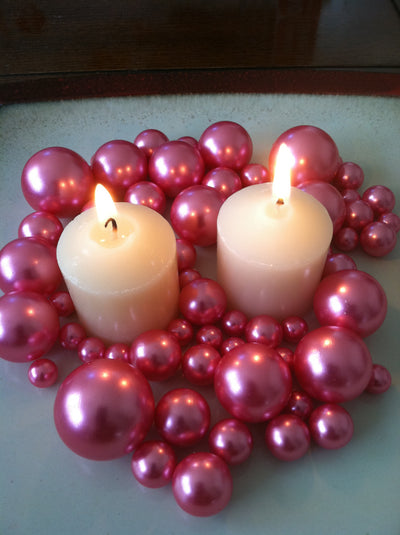 Hot Pink Pearls For Floating Pearl Centerpieces, Jumbo Pearls Vase Fillers, Scatters, Confetti