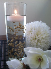 Champagne Pearls Candle Votive Fillers (400pcs) No Hole Pearls Mix Size, Table Scatters