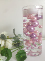 Dusty Coral And Lilac Pearls, DIY Floating Pearl Centerpiece, Vase & Bowl Fillers, Table Scatters