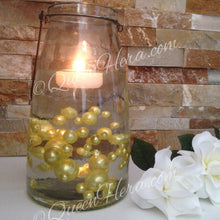 Yellow Yolk Pearls Decorative Jumbo Vase Filler Pearls, Floating Pearl Centerpiece, Scatters, Confetti