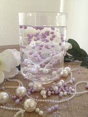 Lilac Pearl Beaded Garland (8+3mm Pearls) Used for Creating The Floating Beaded Pearl Centerpiece