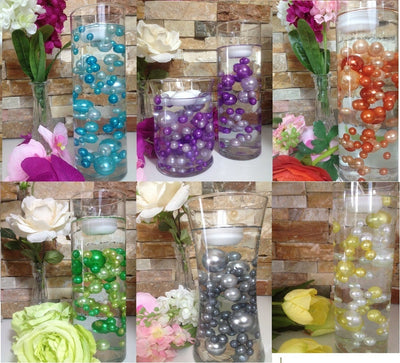 Trending Wedding Color Palette DIY Floating Pearl Centerpiece/Decor Custom Colors