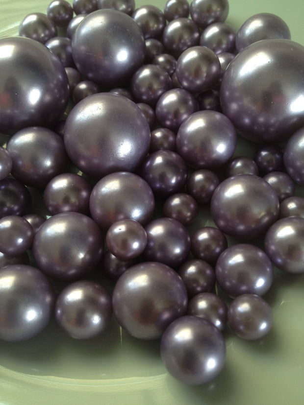Lavendar Jumbo Pearls No holes, Vase Filler Pearls (8-10-14-18-24-30mm) Floating Pearl Centerpiece