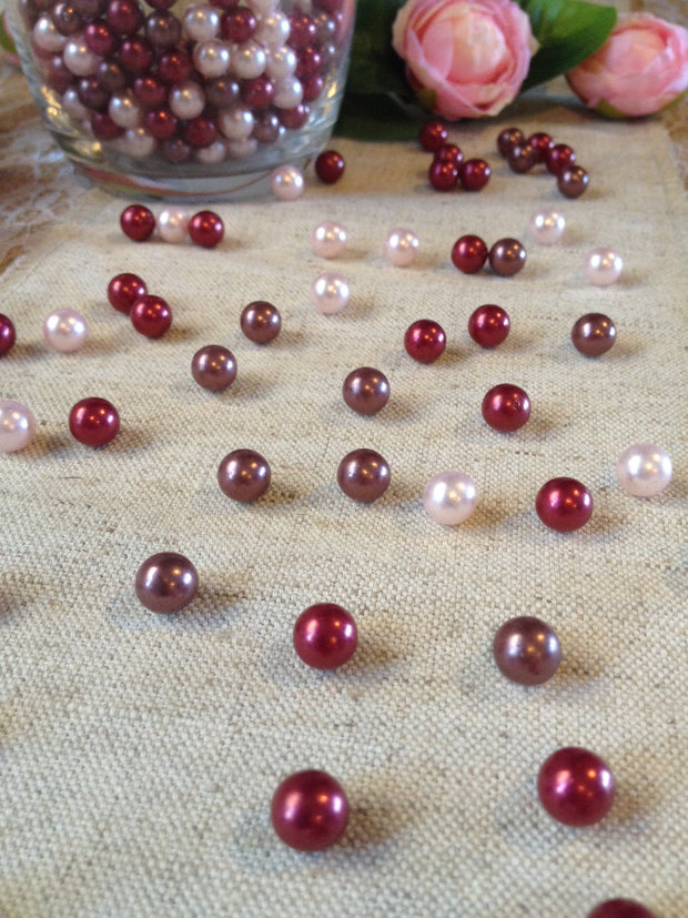 Fall Autumn Vase Filler Pearls, Table Confetti Pearls, Rustic Wedding Pearls