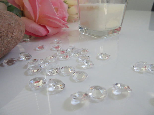 12mm Acrylic Diamond Table Scatters, 100/pk For Wedding Table Confetti, Vase Fillers, Decors, Embellishment