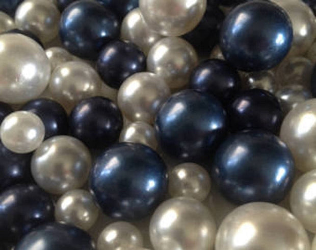 Navy Blue Pearls Decorative Jumbo Pearls (no hole pearls) - Floating Pearls Centerpieces, Table Decors, Scatters