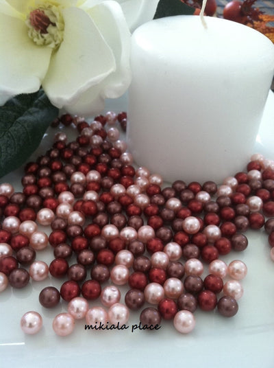 Fall Autumn Vase Filler Pearls For Wedding, Table Decorations Floating Pearls