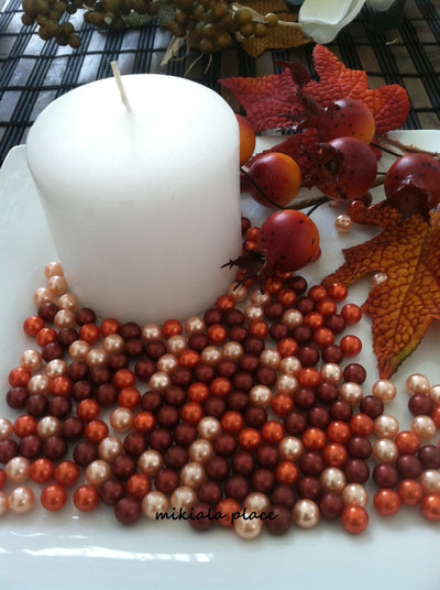 Fall Autumn Vase Filler Pearls, Wedding Fall Table Decor Floating Pearls
