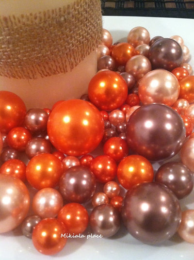 Fall Autumn Floating Pearls Vase Fillers Wedding Fall Floating Pearls