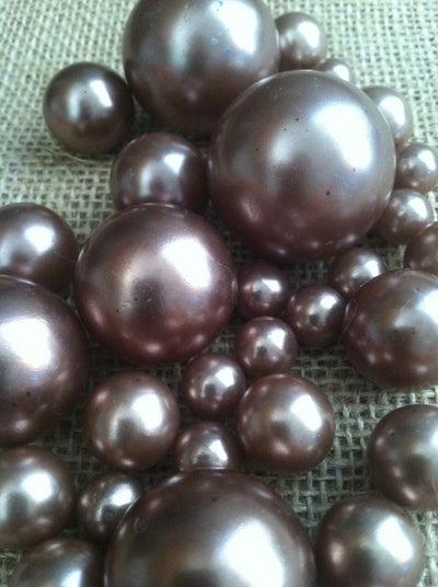 Light Brown Cocoa Pearls For Floating Pearl Centerpieces, Jumbo Pearls Vase Fillers, Scatters, Confetti