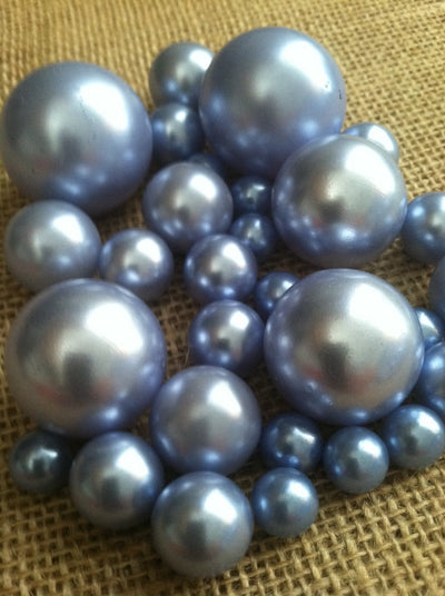 Light Blue Pearls For Floating Pearl Centerpieces, Jumbo Pearls Vase Fillers, Scatters, Confetti