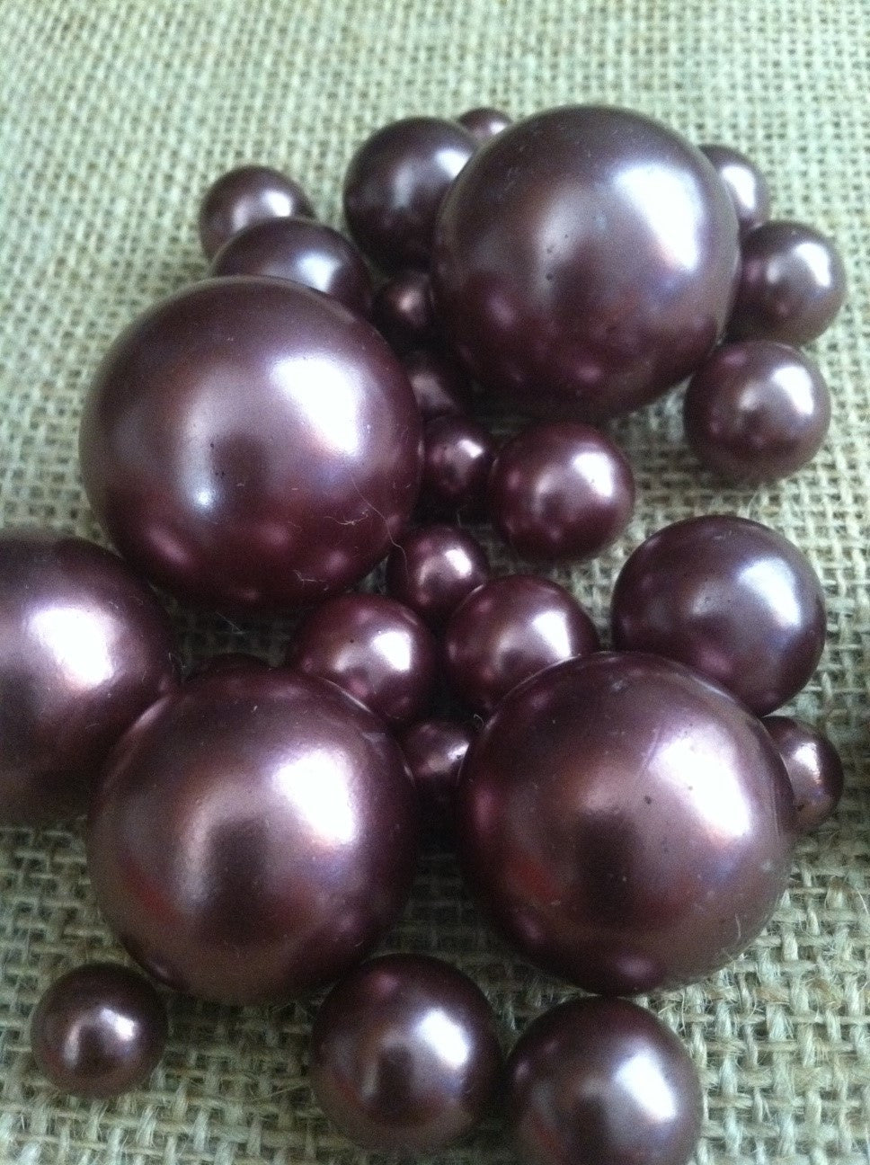 Chocolate Brown Pearls For Floating Pearl Centerpieces, Jumbo Pearls Vase Fillers, Scatters, Confetti