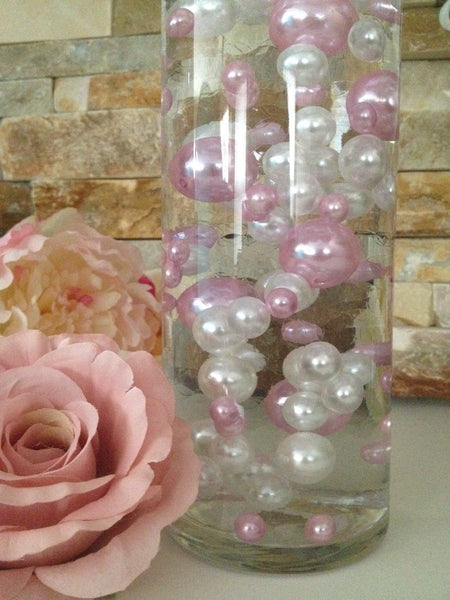 Diy Floating Pearl Centerpiece Vase Filler Pearls Light
