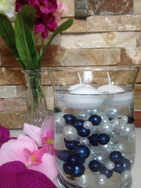 Navy Blue And White Pearls 90pc Vase Amp Bowl Fillers Table