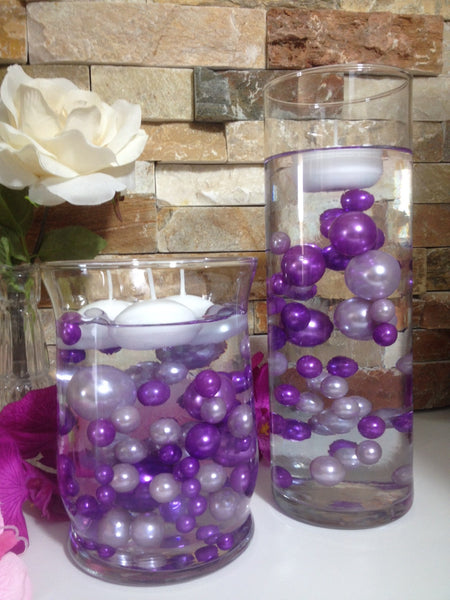 Purple And Lilac Pearls Vase Filler Pearls Diy Floating