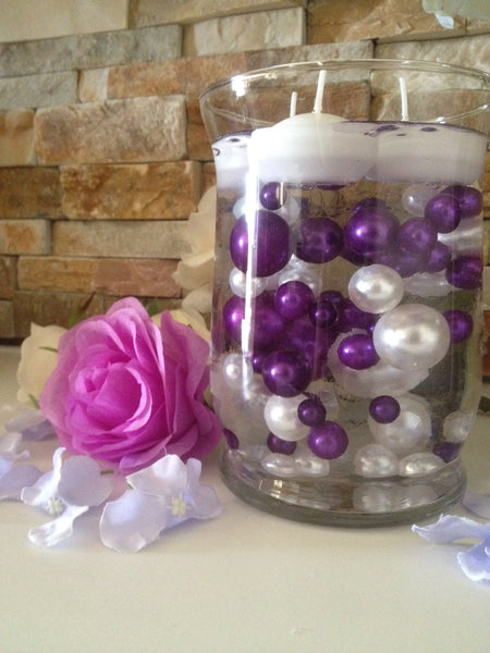 Vase Filler Pearls For Floating Pearl Centerpiece Purple
