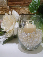 Diamonds And Pearls Table Scatter, Teal Blue & Light Blue Table Confetti, Vase Filler Pearls For Candles, Wine glass