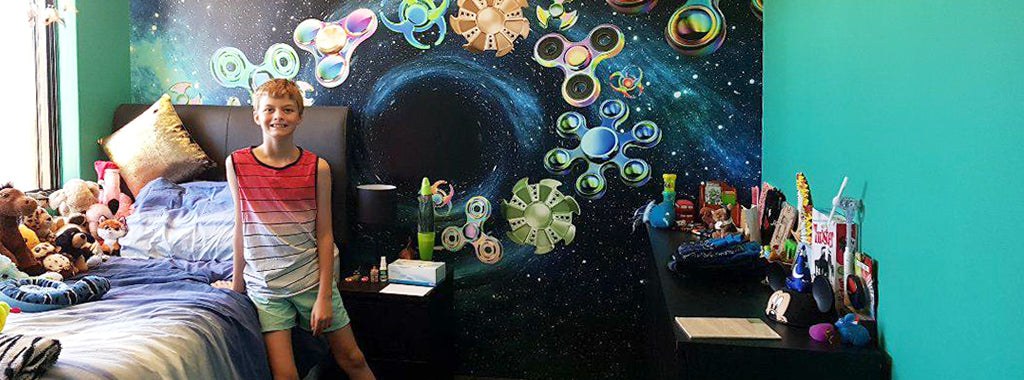 Custom design fidget spinner mural