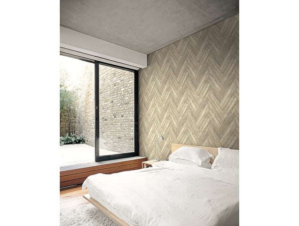Stacked Chevron Wood Modern Foundation Wallpaper