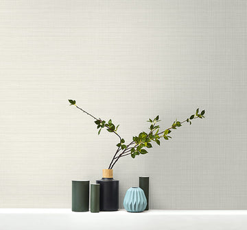 Subtle Grasscloth Textile Effects Wallpaper