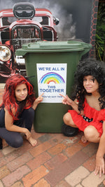 We are all in this together - White Bin Stickers