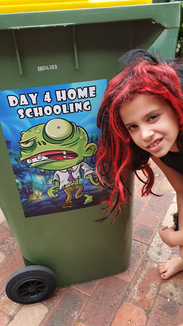 Home Schooling - Bin Sticker