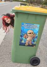 Aussies Protect Themselves - Bin Sticker