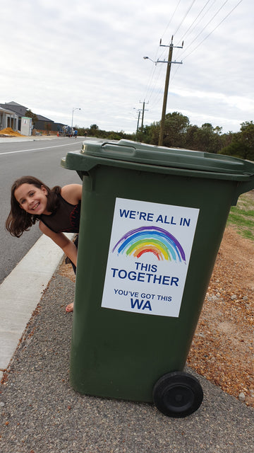 We are all in this together WA - White Bin Stickers