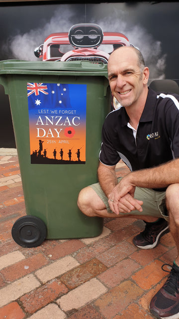 Anzac Day - Bin Sticker