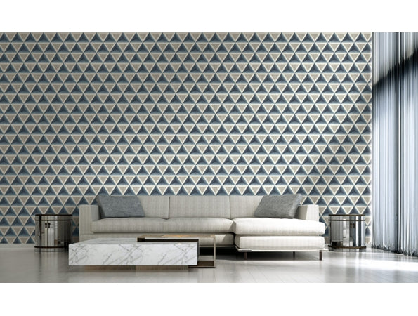 3D Wood Geometric Modern Foundation Wallpaper