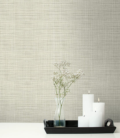 Woven Linen Textile Effects Wallpaper