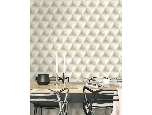 3D Concrete Diamonds Modern Foundation Wallpaper