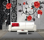 Designer Wall Mural Angel Red Mural