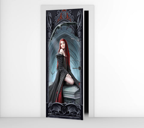 Anne Stokes Await the Night Door Mural