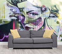 Blonde Bombshell - Full Wall Mural