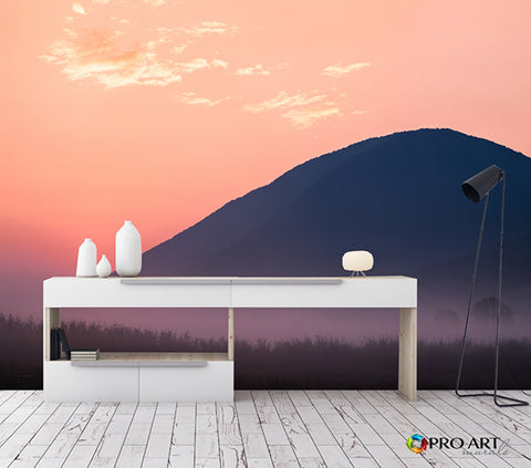 Blush Mountain - Full Wall Mural