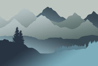 Baby Mountain Blue - Full Wall Mural