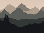 Baby Mountain Natural - Full Wall Mural