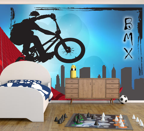 BMX City - Full Wall Mural