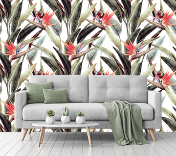 Bird of Paradise  - Full Wall Mural