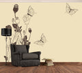 Butterfly Roses - Full Wall Mural