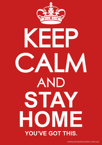 Keep Calm stay at home Bin Sticker