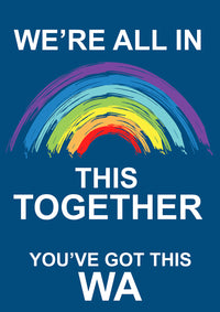 We are all in this together WA - Blue Bin Stickers